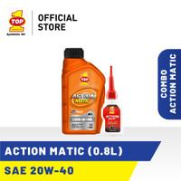 Paket Motor Matic D - TOP 1 ACTION MATIC 20W-40 | 0.8 L