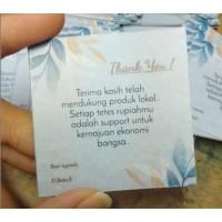 Cetak Thank You Card untuk Souvenir, Produk Bisnis, dll / Kartu Ucapan