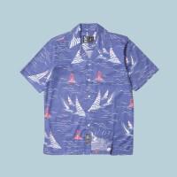 Kemeja Pantai Lengan Pendek Monochrome SS Lana Blu Shirt