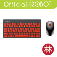 Robot KM3000 Portable Mini Wireless Keyboard & Mouse Combo - Merah