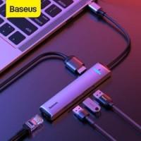 BASEUS 6 IN 1 USB TYPE C TO USB A USB C 3.0 HDMI RJ45 HUB CAHUB-JOG