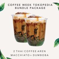 2 CUP DUM DUM THAI COFFEE AREN w/ MACCHIATO & DUMBOBA