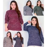 Sweater Rajut Wanita Twist LD Max 120 Baju Hangat Misty Cewek Jumbo