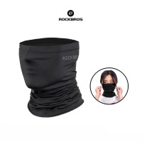 Rockbros WB001 Face Mask Scarf Bandana Ice - Masker Sport Sepeda Black