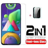 Tempered Glass Samsung M21 Clear Pelindung Layar dan Kamera Belakang