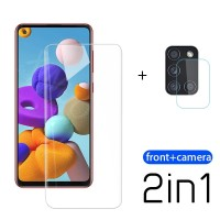Tempered Glass Samsung A21s Clear Pelindung Layar dan Kamera Belakang