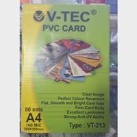 Kertas Pvc Bahan Id Card Instan V-TEC 760micron A4 isi 50