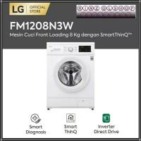 MESIN CUCI LG FM1208N3W FRONT LOADING 8KG