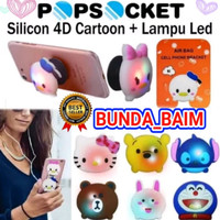 POP SOCKET LAMPU LED PPS82 / POP SOCKET KARAKTER RING STAND GRIP HP