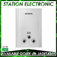 Modena Water Heater Gas GI 6 V/GI-6V Putih khusus GRAB/GOJEK