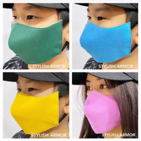 Masker Stylish Armor Silver Antimicrobial 3ply EPA Registered