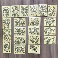 Mainan Edukasi Anak Lukisan Pasir Warna Mewarnai DIY sand Art Kecil