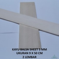 Kayu Balsa Sheet 5 mm / Balsa Lembaran / Papan / Kayubalsa