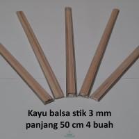 Kayu Balsa Stick 3 mm / Balsa Stik / Kayubalsa