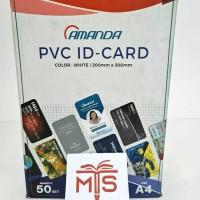 Kertas PVC Bahan ID CARD AMANDA / 50 Sheet
