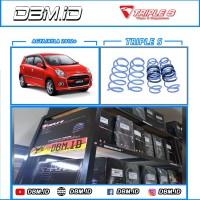 Per Lowering Spring Ceper Triple S Toyota Agya / Daihatsu Ayla