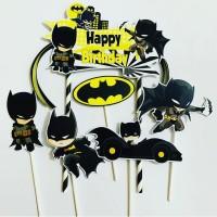 Batman Chibi Ribbon Topper Cake Birthday/Hiasan Kue Ulang Tahun