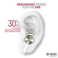 EARPHONE AVEN N2 - headset original earphones unik sport bass murah - Putih