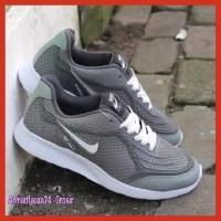 Terbaru Sepatu Nike Air Max Hitam Polos List Putih Fullblack Sepatu