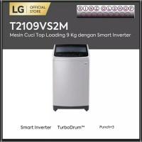 MESIN CUCI LG T2109VS2M TOP LOADING 9 KG SMART INVERTER