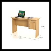 FUNIKA 12120 BE - Meja Kantor Dengan Laci - Coklat Muda