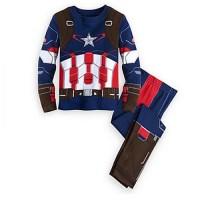 Piyama Captain America Anak Laki-Laki 2 - 8 Tahun Baju Tidur PMI-2211