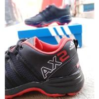 SEPATU ADIDAS AX2 GORE T-REX HITAM MERAH / sneaker pria gore tex