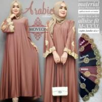 RF Abaya Long dress gamis maxi bordir arab dubai ori cantik murah