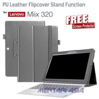 Jual Flipcover Lenovo MIIX 320 - Lychee Grain PU Leather FREE SP Mura