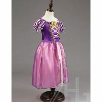 Princess Rapunzel Dress Costume | Baju Kostum Putri Anak 4 - Ungu 140