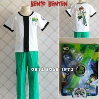 Baju Kostum Anak Karakter Superhero BEN10 BENTEN BEN 10 2-5 Tahun -