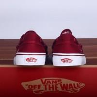 New Sepatu Vans Zapato Japato Zapatto Port Royale Red Maroon White