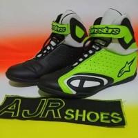 Special Ready sepatu drag-touring Alpinestar k-pro hitam stabilo