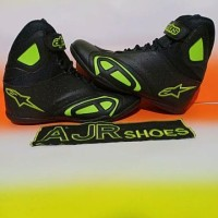 Special Sepatu drag Alpinestar New hitam polos bordir merah