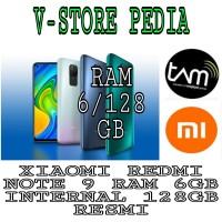 XIAOMI REDMI NOTE 9 RAM 6/128 GB RAM 6GB INTERNAL 128GB RESMI