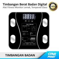Timbangan Badan Digital Body Fat Scale Elektronik LED Tempered Glass