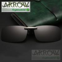 Arrow Polarized Clip On Sunglasses Driving Anti-Uv kacamata hitam