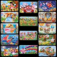 Puzzle Kayu 60 potong Tempat Kotak Kaleng Mainan Anak Edukasi QM5