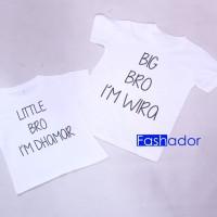 GRATIS NAMA Kaos / Baju Couple Kakak Adik Custom Tulisan / Inisial