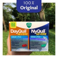 Vicks DayQuil & NyQuil Severe Pack - 24 Kapsul - Original 100%