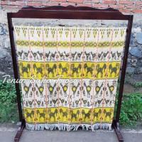 kain tenun blangket jepara motif sumba ntt premium kuning