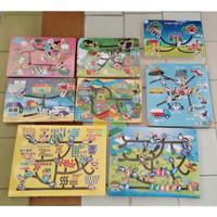 Maze Permainan Papan Labirin Problem Soving Mainan Edukasi Anak TK