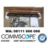 AMP Commscope 24 Port Category 5E, SL Series Patch Panel, 1U (Loaded)