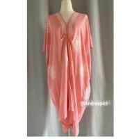 Baju wanita/Dress-Kaftan Paris Batik Piring Pink