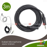 Kabel Extension 3.5mm/TRS Male to Female 3meter Microphone Audio Jack