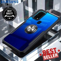 Case Samsung M31 Ring Transparan CLEAR JAZZ SERIES Casing Bumper