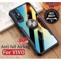 Case VIVO V19 Ring Transparan CLEAR JAZZ SERIES Casing Bumper