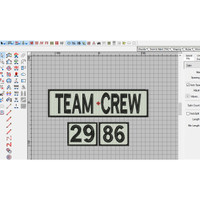 Emblem Patch Bordir Kaos Team Crew dan Angka 29 86 di agenforedijogja