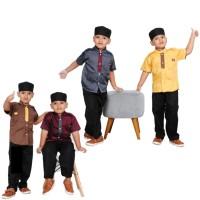 Baju Koko Anak / Setelan Kemeja Baju Muslim Anak Laki Cowok