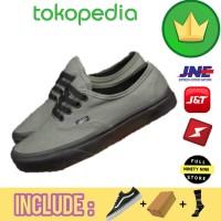 Sepatu Pria Wanita / Vans authentic Grey / Sepatu murah ngampus jalan